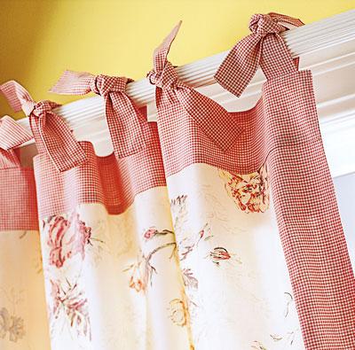 Завязки для штор на кухне своими руками