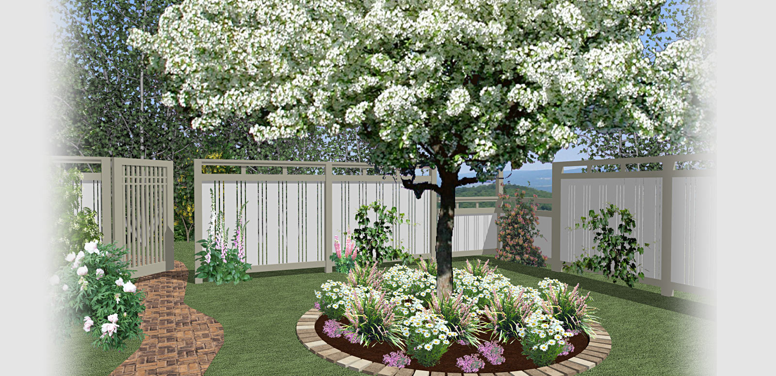 Home designer software for deck and landscape software projects a fenced in backyard baanklon Gallery