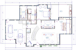 floor plan with automatic and manual dimensions - Floor Plan Tools