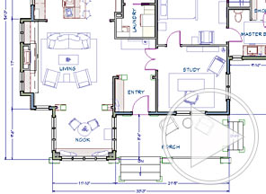 floor plan and space planning video - Home Design Floor Plans Free