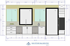 Kitchen Wall Elevation With Dimensions