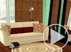 Modify look of modern living room video