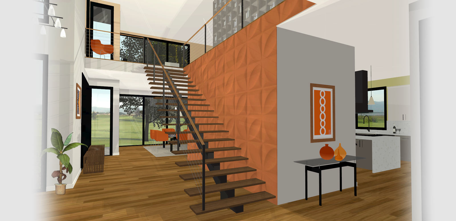 Home Designer Sample Plan Modern Staircase