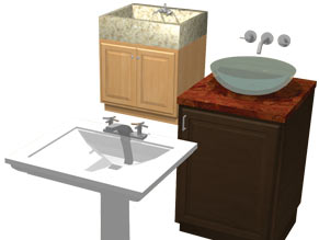 Several sink basin styles