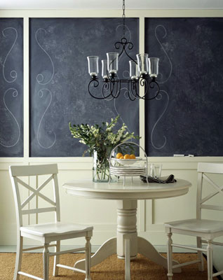 Dining room with wainscoting
