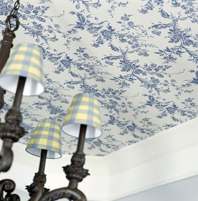 use molding to break up a ceiling and walls