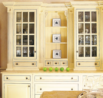 Country home style cabinets
