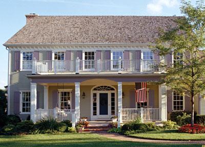 exterior view of a plantation style house - Exterior Color Design