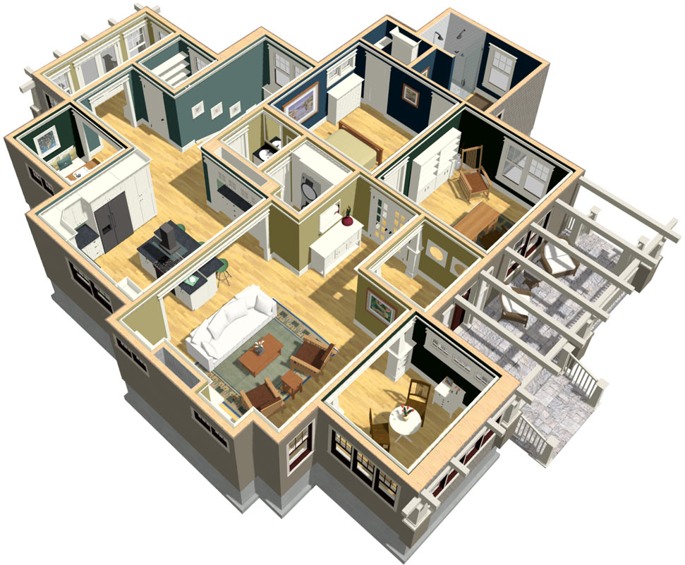 Craftsman Floor Plan Dollhouse