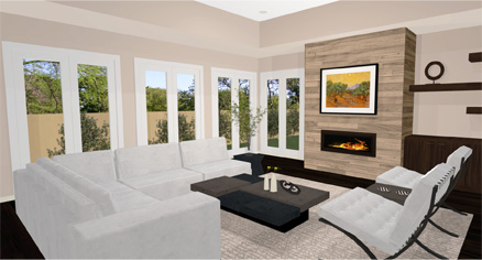 Daytona Modern Living Room Home Designer Software  Sample Gallery