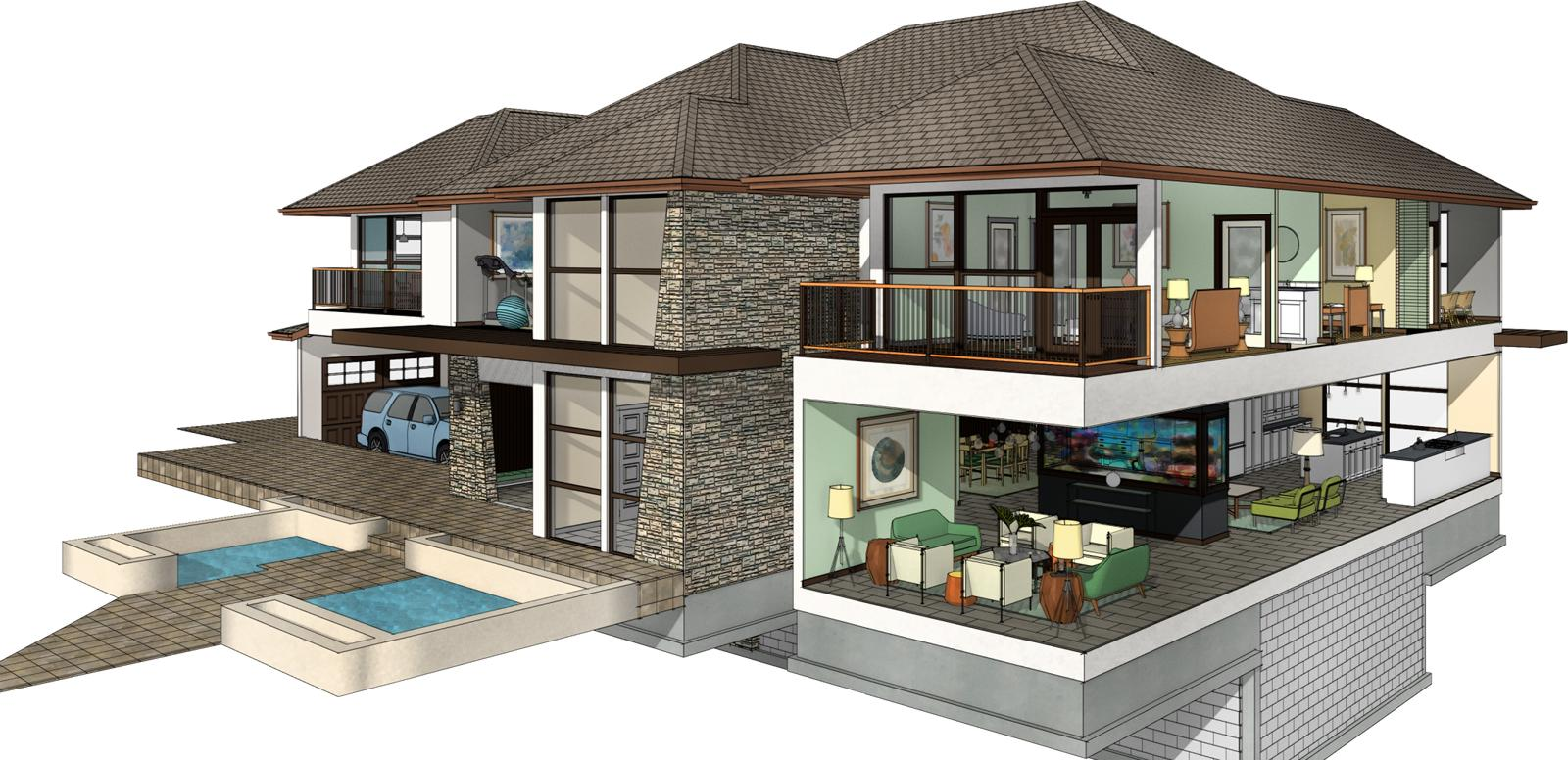 Example Home Design By Chief Architect Software.