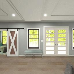 Interior rendering of the Bayberry living room.