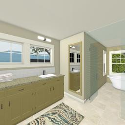 Crafting Modern bathroom 360° panorama