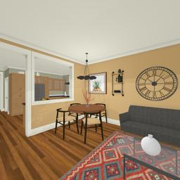 Crafting Modern family room 360° panorama