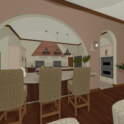 Italian Manor kitchen 360° panorama