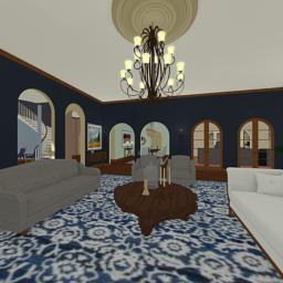 Italian Manor living room 360° panorama