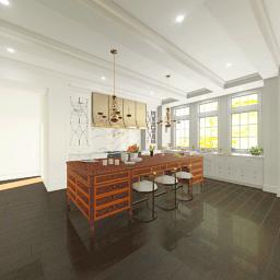 A kitchen design created by Richard Anuskiewicz.