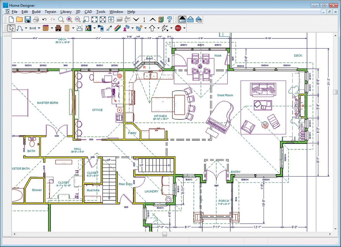 Home designer architectural Home drafting software free