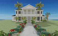 """渲染南部殖民地风格的住宅有棕榈树和花内衬人行道,还设有门廊作为欢迎这个白宫与黑色的百叶窗。""""></a><br><span>南方殖民地</span><br><a href="""