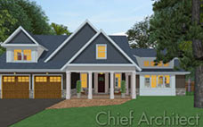 """Front exterior dusk view of a gable roof house with two car garage,  a covered front entry, and brown siding with stone façade.""""></a><br><span>郊区Crafsman</span><br><a href="""