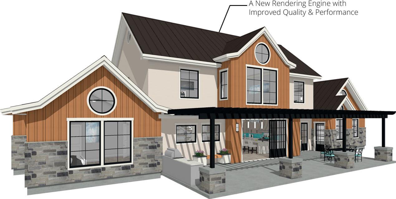 家庭设计师2022新的渲染和轨道演练