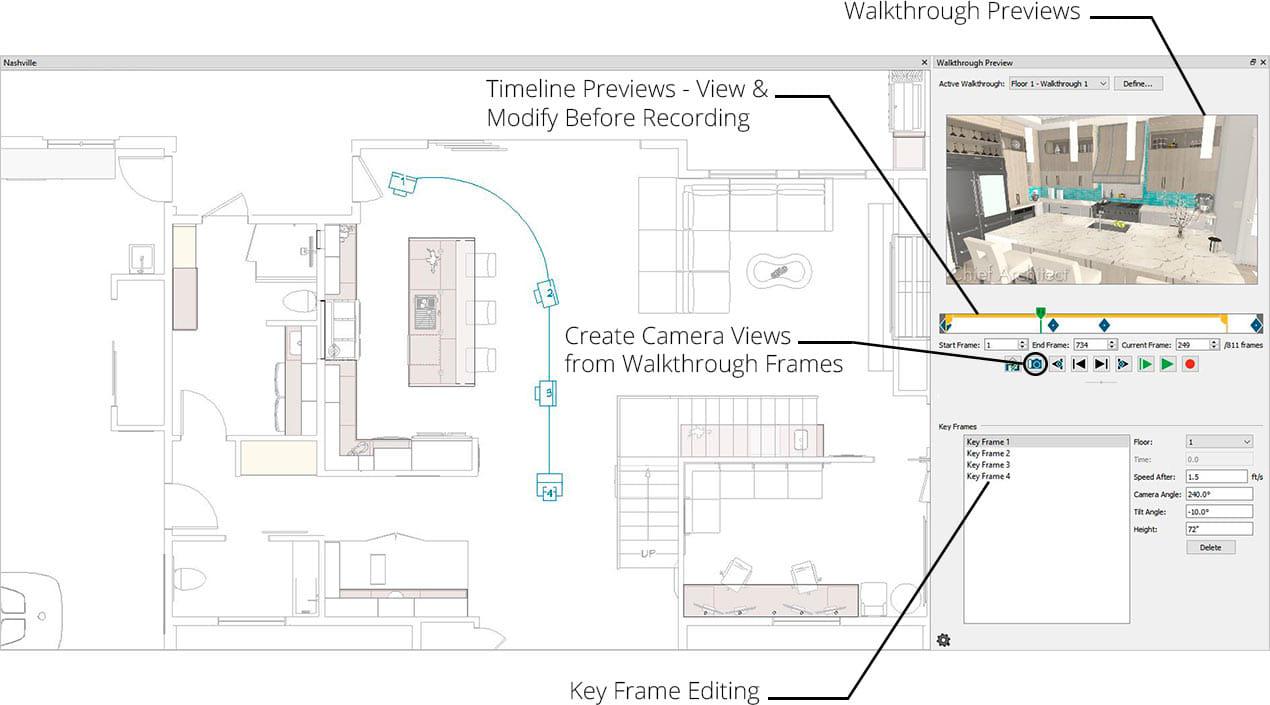 家庭设计师演练预览以轻松创建虚拟旅行
